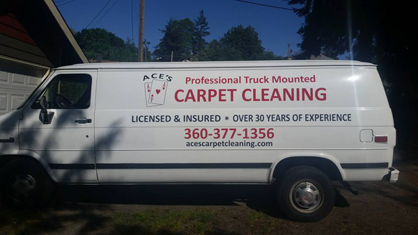 Ace's Carpet Cleaning Van
